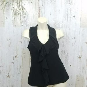 White House Black Market ruffled Blouse